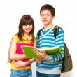 Two teenagers - Stock Photo