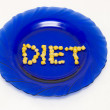 The Inscription on a plate - a diet — Photo