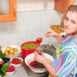 Stock Photo: Womcooks jam