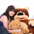The girl and bear — Stock Photo #1904234