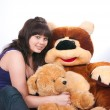 Stock Photo: The girl and bear