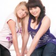 Stock Photo: The image of two girls of girlfriends