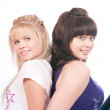 The image of two girls of girlfriends — Stock Photo