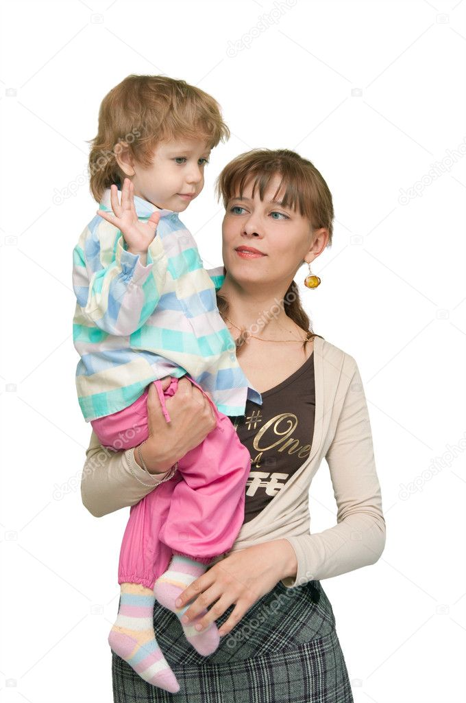 The image of the child on hands at the woman — Stock Photo #1900533