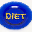 The Inscription on a plate - a diet — Stock Photo