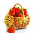 Basket with strawberry - Stock Photo