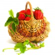 Basket with strawberry — Stock Photo