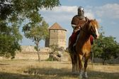 Medieval European knight in th — Stock Photo
