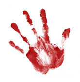 Red handprint — Stock Photo