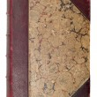Old brown book cover - Stock Photo