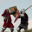 Fight of medieval knights — Foto de Stock
