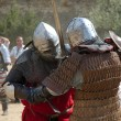 Fight of medieval knights - Stock Photo