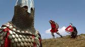 Medieval European knight — Stock Photo