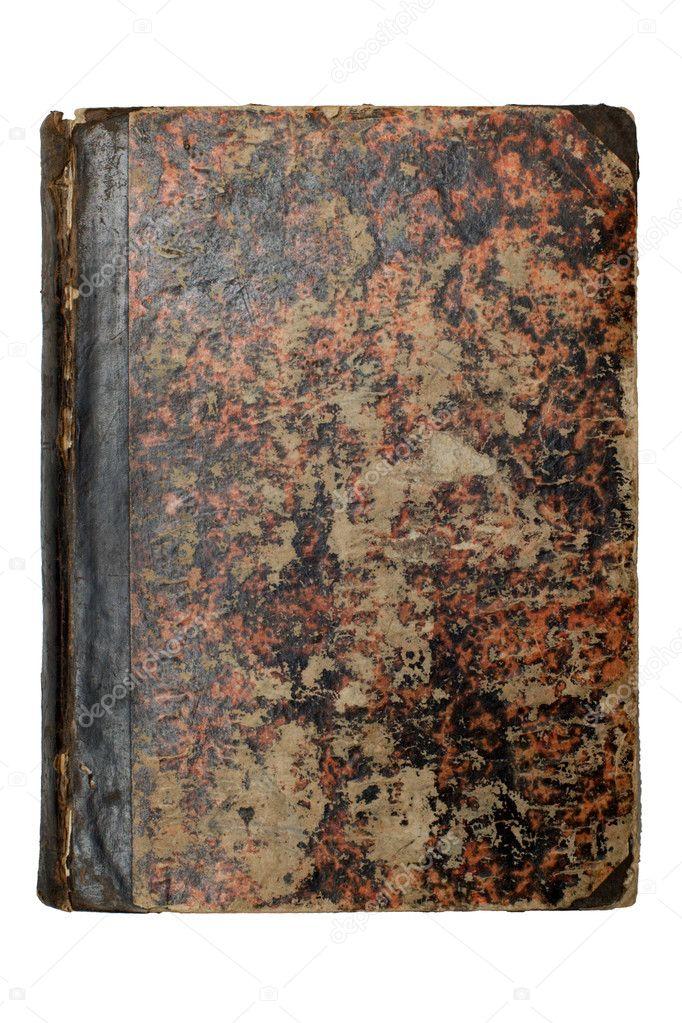 Old Brown Book Cover ~ Old brown book cover — stock photo
