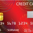 Stock Vector: Red credit card