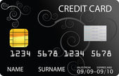 Black credit card — Stock Vector