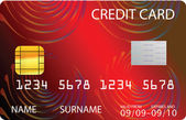 Red credit card — Stock Vector