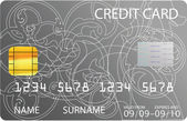 Gray credit card — Stock Vector