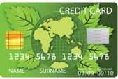 Credit card green vector — Stock Vector