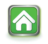 Home green icon — Stock Vector