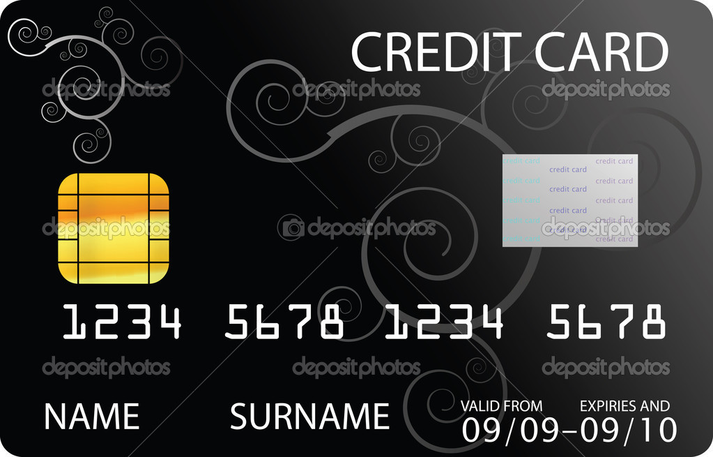Black credit card — Stock Vector #2312918