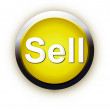 Stock Vector: Button sell