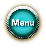 Blue button vector — Stock Vector