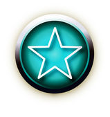 Blue button vector star — Stock Vector