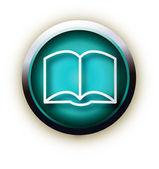 Blue button vector book — Stock Vector