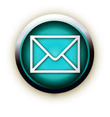 Blue button vector letter — Stock Vector