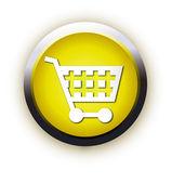 Shopping basket button. Internet Shoppi — Stock Vector