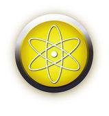 Modern atom symbol — Stock Vector