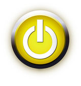 Power Button Vector — Stock Vector