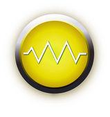 Button pulse — Stock Vector