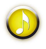 Yellow square icon music — Stock Vector