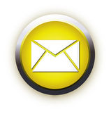 Yellow square icon letter mail — Stock Vector