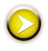 Play shiny button. Vector illustration. — Stock Vector