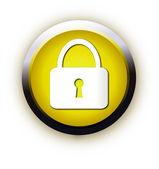 Lock button — Stock Vector