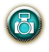 Blue button vector foto — Stock Vector