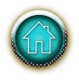 Blue button vector home — Stock Vector