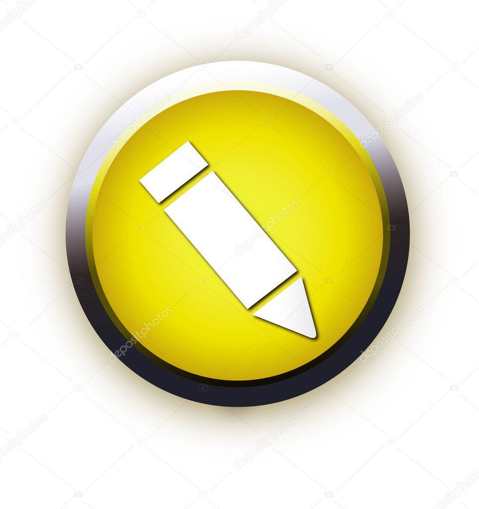Icon Yellow Yellow Square Icon Writing