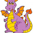 Stock Vector: Big purple dragon