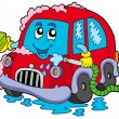 Vector de stock : Cartoon car wash