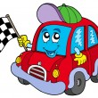 Car race starter - Stock Vector