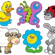Royalty-Free Stock Vector Image: Spring animals collection
