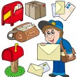 Mail collection — Stockvectorbeeld