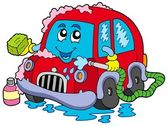 Cartoon car wash — Stock Vector