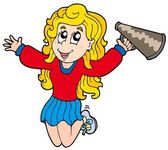 Cartoon cheerleader — Stock Vector