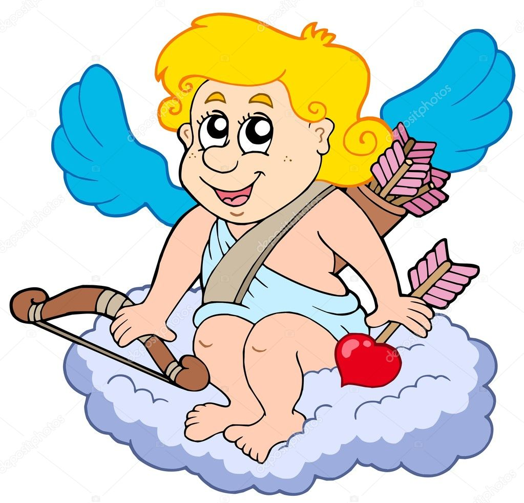 Cupid on cloud — Stock Vector © clairev #1908241