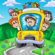 School bus on road — Stock Photo #2009270